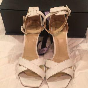 Herve Leger white heeled sandals 37.5